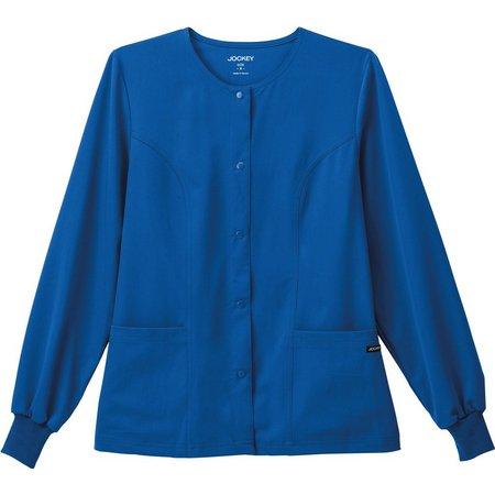 Jockey Womens Classic Snap Front Scrub Jacket