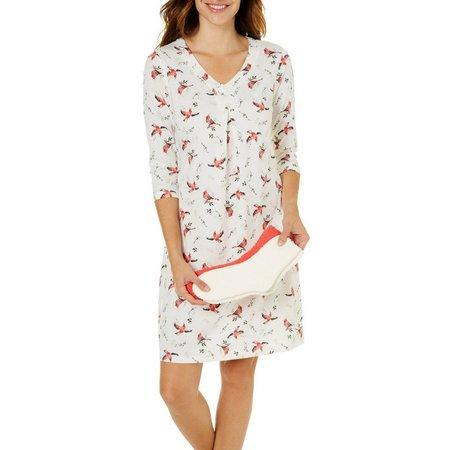 Coral Bay Plus X-Mas Cardinal Socks Pajama Set