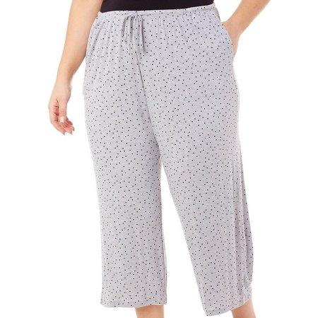 Ellen Tracy Plus Essentials Dot Pajama Capris