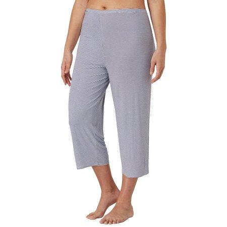 Ellen Tracy Plus Stripe Pajama Capri Pants