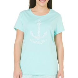 Coral Bay Plus Anchor Pajama Top