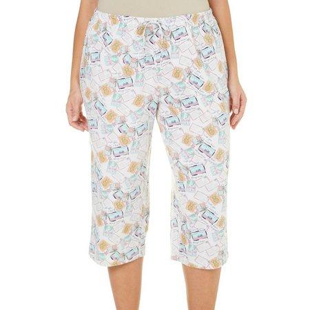 Coral Bay Plus Postcard Pajama Capris
