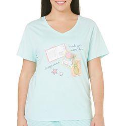 Coral Bay Plus Postcard Pajama Top