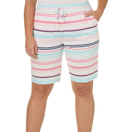 Coral Bay Plus Stripe Pajama Shorts