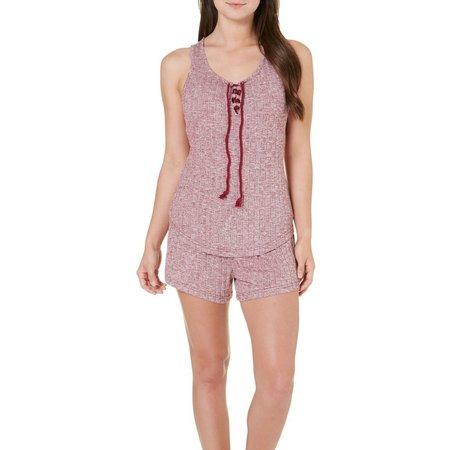 Age Group Womens Cozy Ribbed Pajama Shorts Set