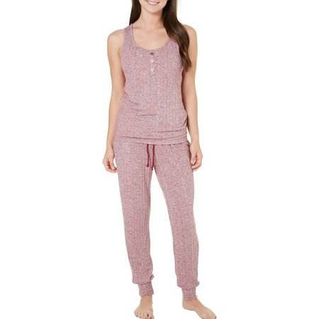 Age Group Womens Cozy Ribbed Jogger Pajama Set