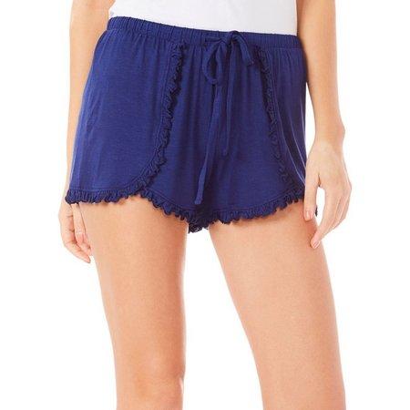 Maddie & Coco Juniors Ruffle Trim Pajama Shorts