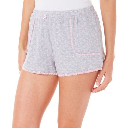 Maddie & Coco Juniors Diamond Lace Pajama Shorts