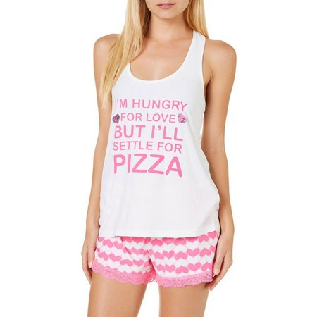Grumpy & Gorgeous Juniors 2-pc. Pizza Pajama Shorts