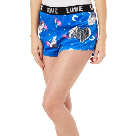 Mentally Exhausted Juniors Owl Soft Pajama Shorts