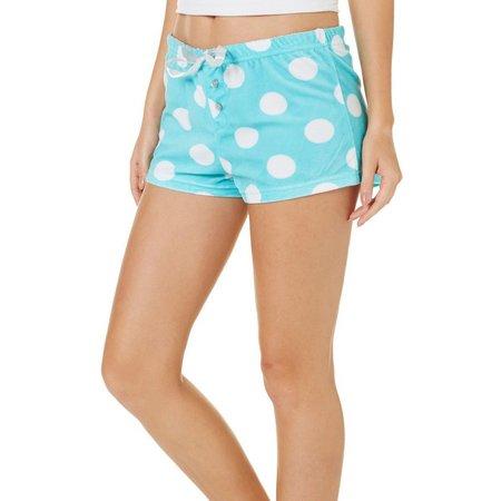 Mentally Exhausted Juniors Dots Soft Pajama Shorts