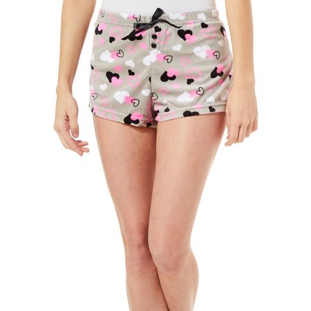 Mentally Exhausted Juniors Heart Soft Pajama Shorts
