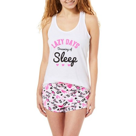 Mentally Exhausted Juniors 2-pc. Lazy Days Pajama Shorts