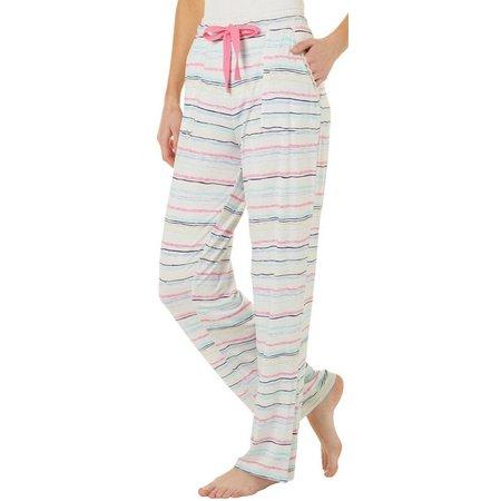 Jaclyn Intimates Womens Stripe Print Pajama Pants