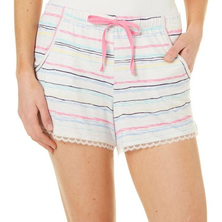 Jaclyn Intimates Womens Stripe Print Pajama Shorts