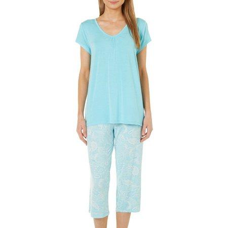 Jaclyn Intimates Womens 2-pc. Paisley Pajama Set