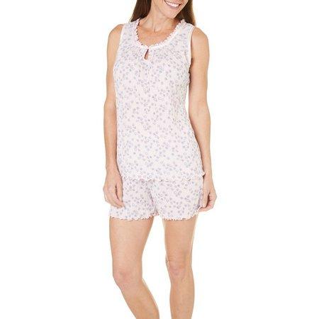 Jaclyn Intimates Womens Daisies Pajama Set