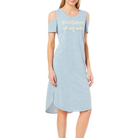 Jaclyn Intimates Womens Sunshine Cold Shoulder Nightgown