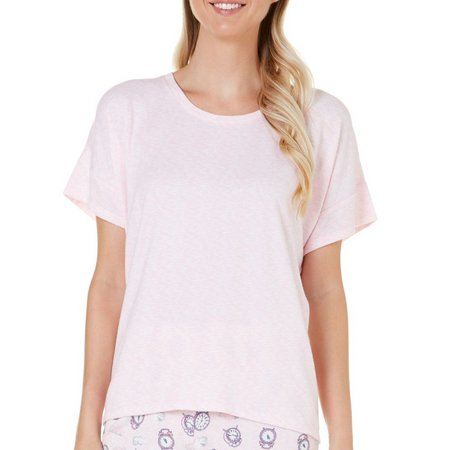 Jaclyn Intimates Womens Solid Oversize Pajama Top