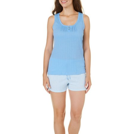 IAppeal Womens Checkered Tank & Short Pajama Set