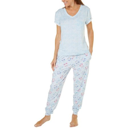Jaclyn Intimates Womens Clocks Pajama Set