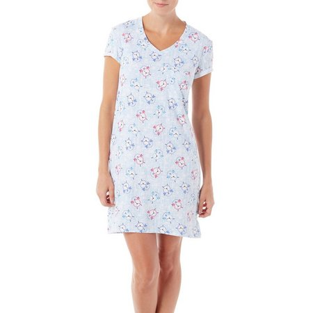 Jaclyn Intimates Womens Clocks High-Low Nightgown