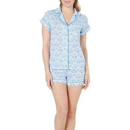 Jaclyn Intimates Womens Roll Cuff Pajama Set