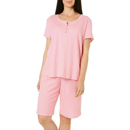Karen Neuburger Womens Polka Dot Pajama Set