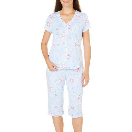 Karen Neuburger Womens Floral Capris Pajama Set