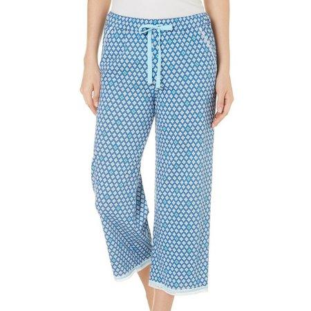 Karen Neuburger Womens Diamond Capri Pajama Pants