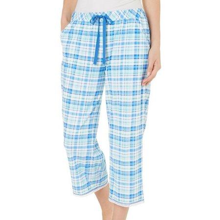 Karen Neuburger Womens Plaid Capri Pajama Pants