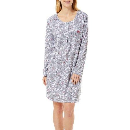 Karen Neuburger Womens Wicked Cute Henley Neck Nightgown