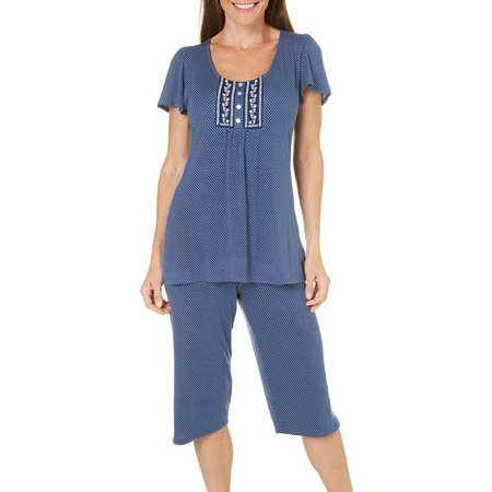Aria Womens Polka Dot Pajama Set