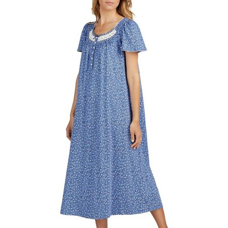Aria Womens Floral Ballet Nightgown