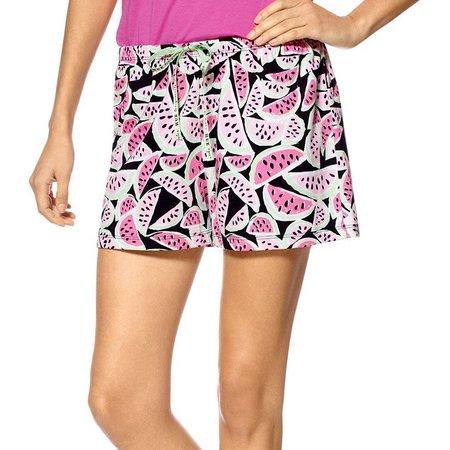 Hue Womens Watermelon Print Pajama Boxer Shorts
