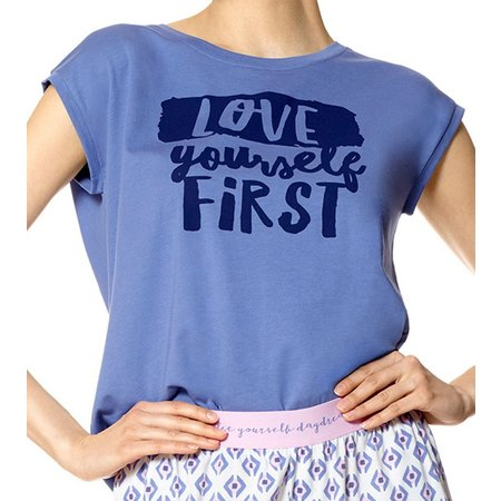Hue Womens Love Yourself First Pajama Top