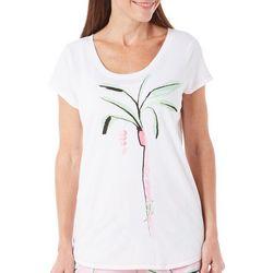 Hue Womens Palm Pajama Top