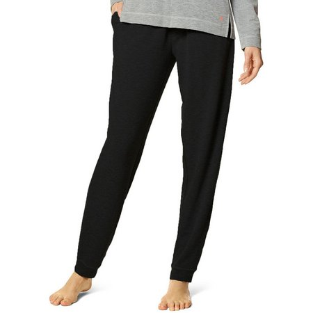 Hue Womens Solid Banded Pocket Pajama Pants