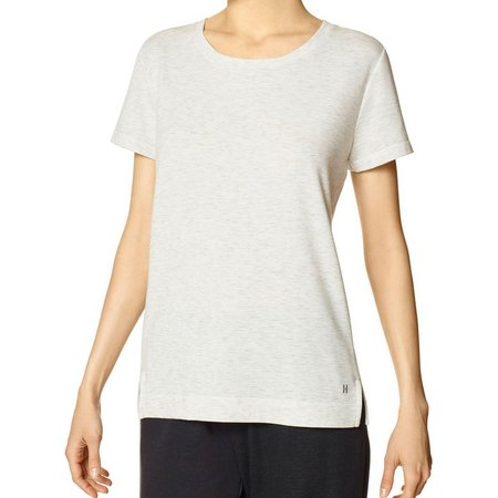 Hue Womens Heather French Terry Pajama Top