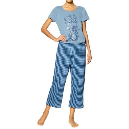 Hue Womens Mermaid Print Pajama Set