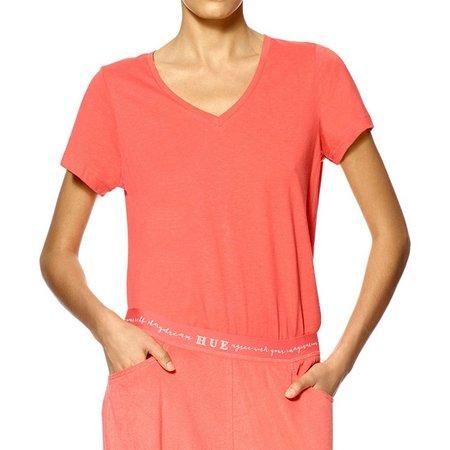 Hue Womens V-Neck Pajama Top