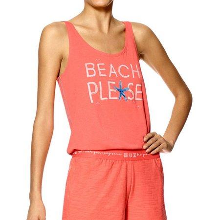 Hue Womens Beach Please Pajama Tank Top