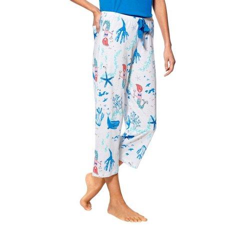 Hue Womens Mermaid Print Pajama Capris