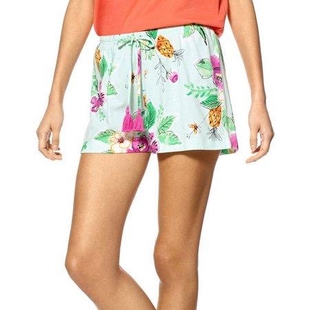 Hue Womens Floral Print Pajama Boxer Shorts