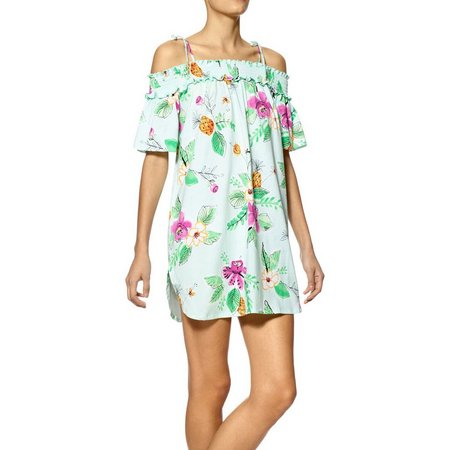 Hue Womens Floral Chemise Nightgown