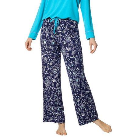 Hue Womens Floral Sketch Pajama Pants