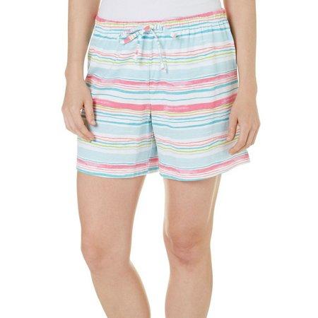 Coral Bay Womens Stripes Pajama Shorts