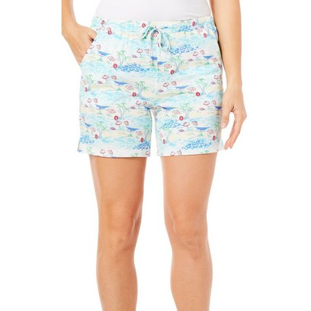 Coral Bay Womens Beach Umbrella Pajama Shorts