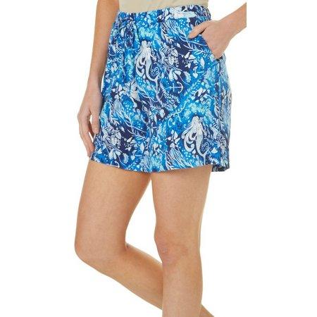 Coral Bay Womens Mermaid Swirl Pajama Shorts