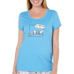 Coral Bay Womens Beach Umbrella Pajama Top